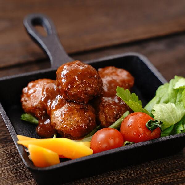 デミグラス風野菜大豆ボールの写真