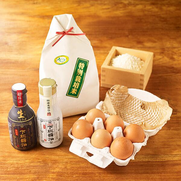 究極の卵かけご飯セットの写真
