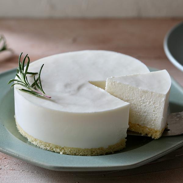 無添加レアチーズケーキの写真