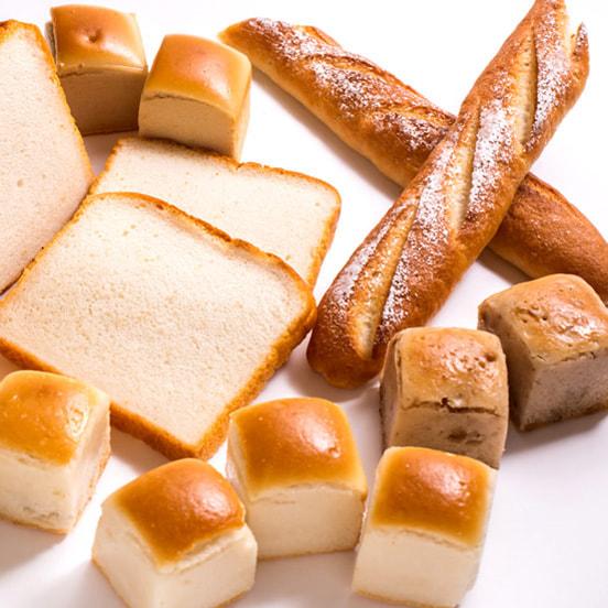 米粉パンのセットの写真