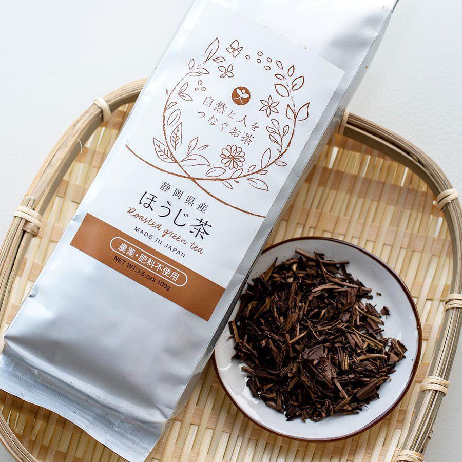 自然栽培のほうじ茶の写真