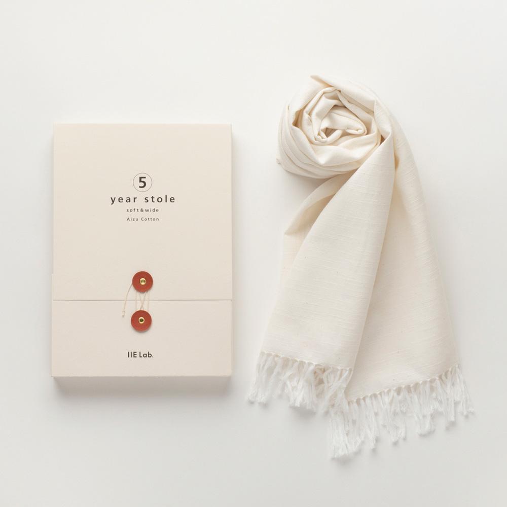 会津木綿のストールの写真