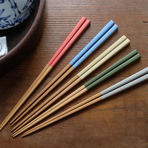 竹製、職人手作り箸の写真