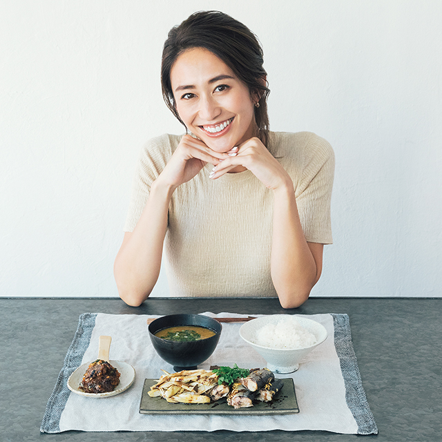 神山まりあさんの、ほんわか幸せレシピ【バルサミコ香るさんまの一汁一菜】の写真
