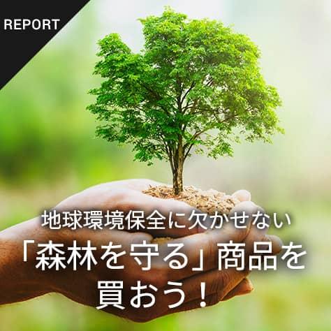 地球環境保全に欠かせない「森林を守る」商品を買おう!