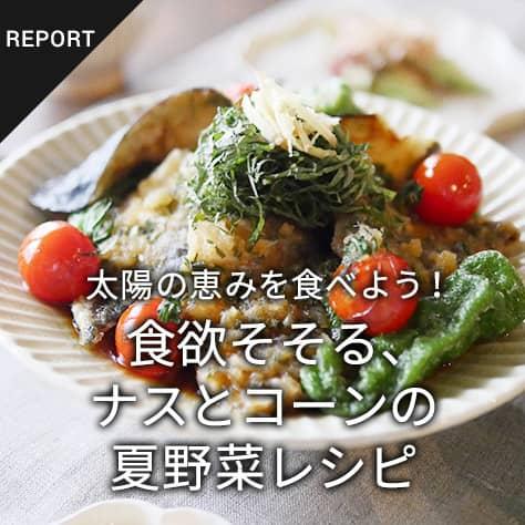 太陽の恵みを食べよう!食欲そそる、ナスとコーンの夏野菜レシピ