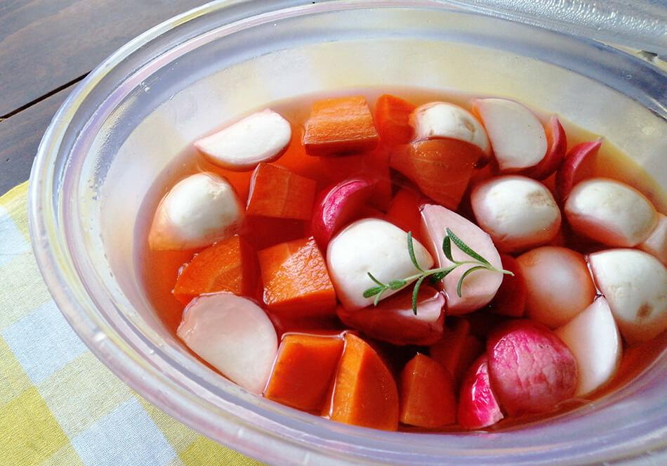 冬の有機野菜のピクルス
