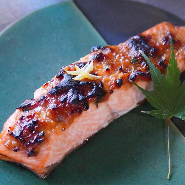 鮭のゆず味噌焼き