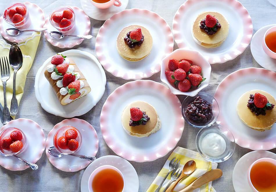 子どもと一緒にできる<br>旬のイチゴで作るスイーツ3種の写真