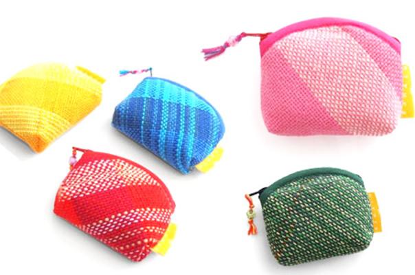 Hiyuca×織音  さをり織り財布