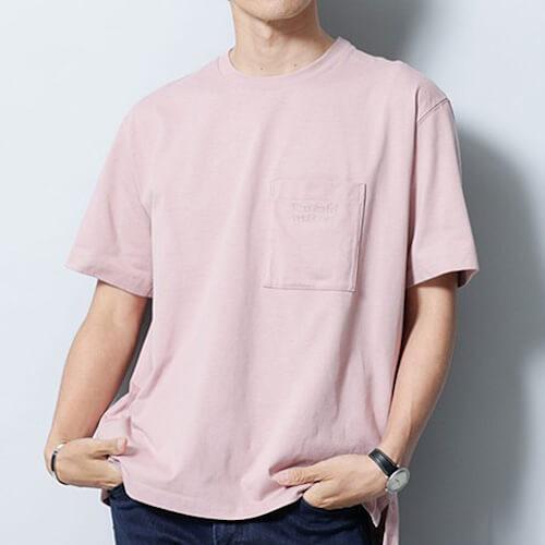 ロゴクルーネックTシャツの写真
