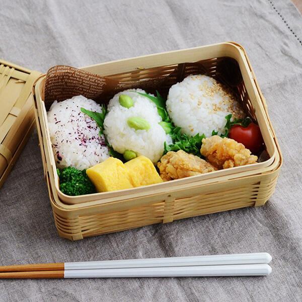白竹のお弁当箱の写真