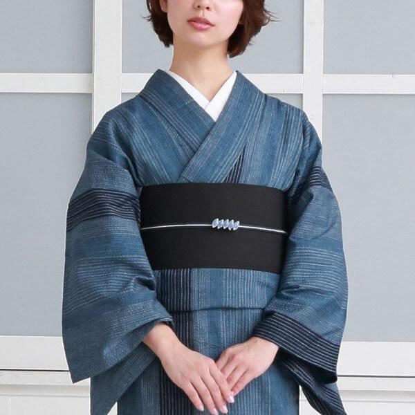伝統工芸 阿波しじら織の着物の写真