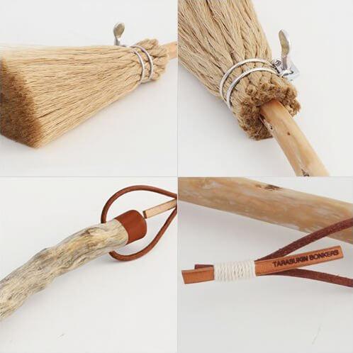 流木と汎用ロープのホウキ・小の写真