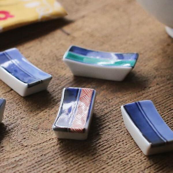 九谷焼 箸置き 5個組の写真