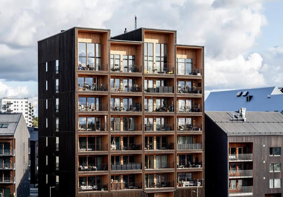 スウェーデンの木造9階建てマンション、550トンのCO2排出削減に貢献(外部サイト)