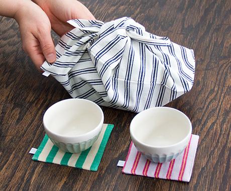 「会津⽊綿でご飯」あずま袋セット