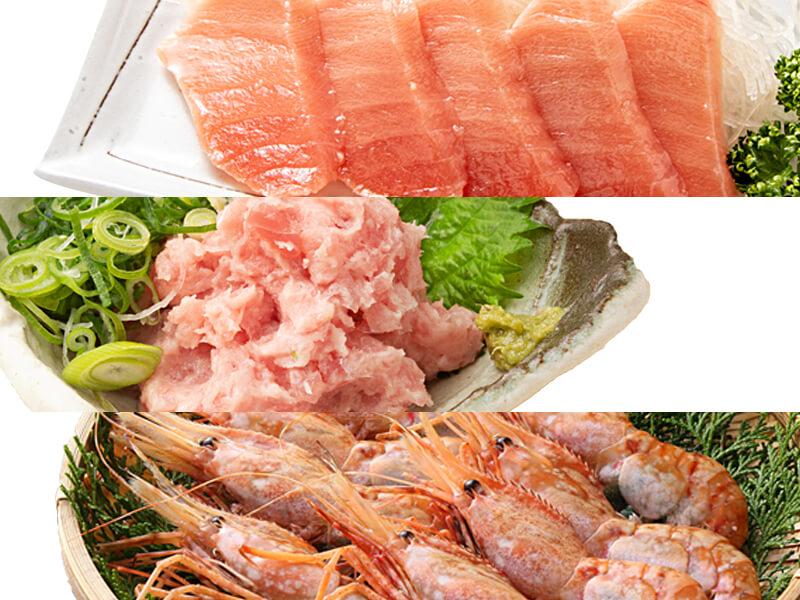 高級寿司ネタ使用海鮮三色丼