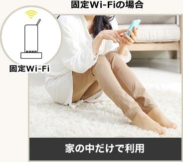 固定Wi-Fiの場合 家の中だけで利用