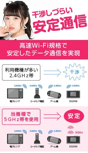 干渉しづらい安定通信 高速Wi-Fi企画で安定したデータ通信を実現