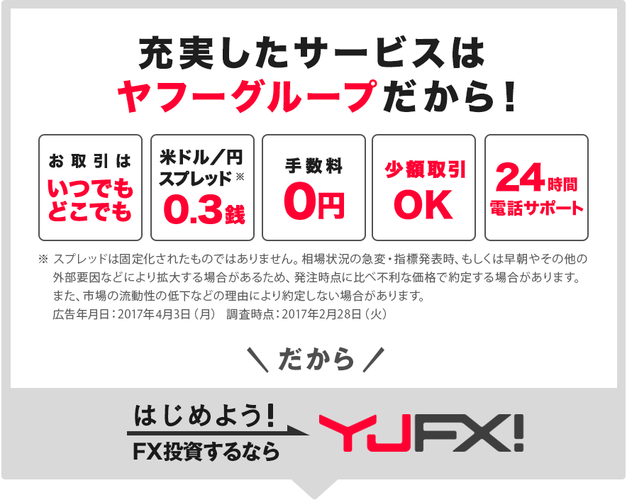 はじめよう!FX投資するならYJFX!
