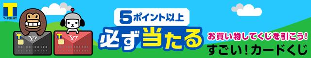 5ポイント以上 必ず当たる Yahoo! JAPANカードで お買い物してくじを引こう すごい!カードくじ