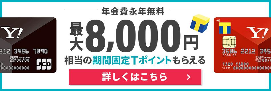 年会費永年無料 Yahoo! JAPANカード 今すぐ申し込む!