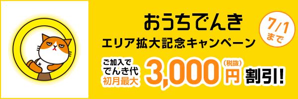 おうちでんき エリア拡大キャンペーン
