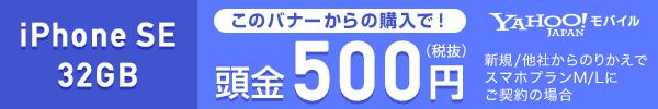 iPhone SE 頭金500円