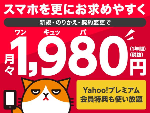スマホプラン月額1,980円でおトク